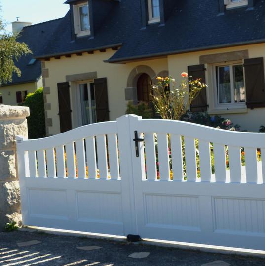 Rénovation d'un portail maison bretonne