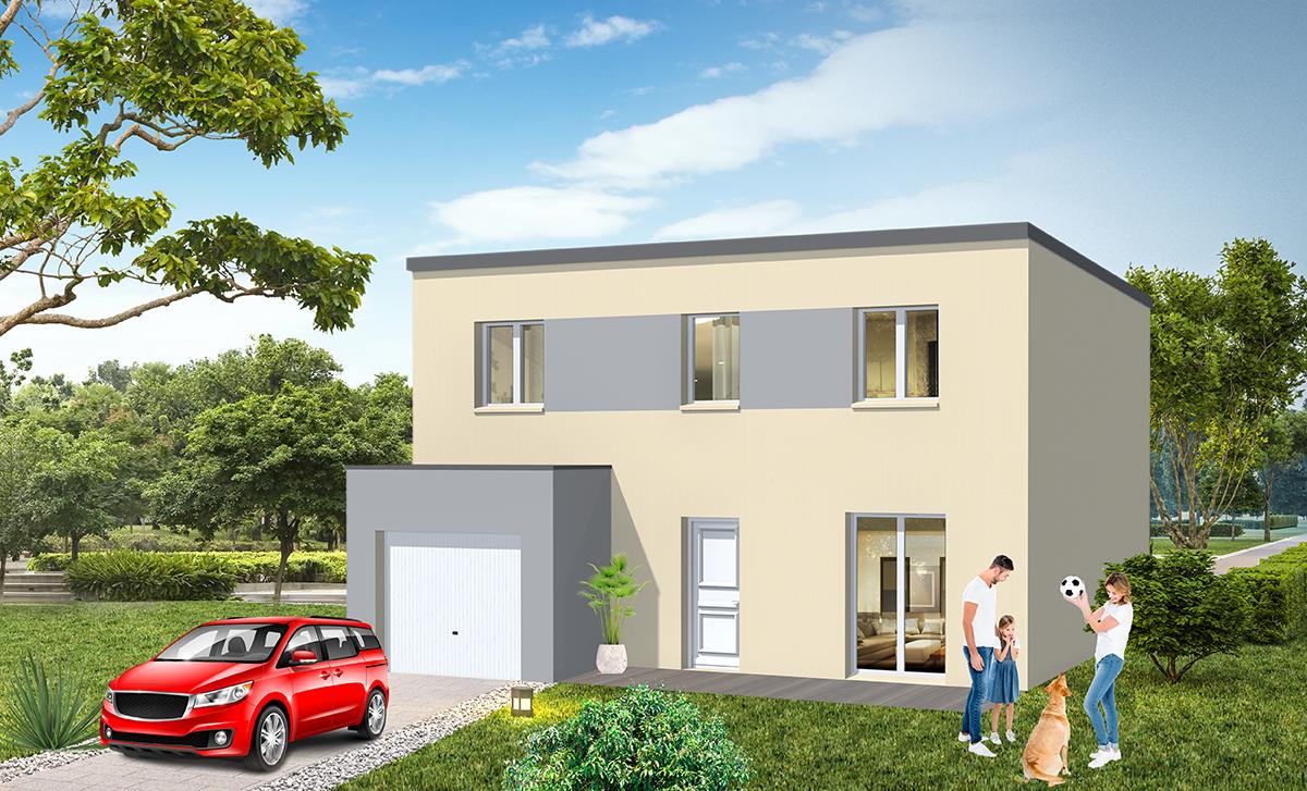 Construction maison toit plat