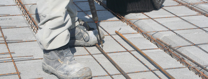 Pose de la dalle construction maison
