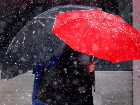 Різке позолодання, вітер і дощі