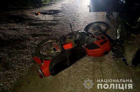 Рідківці: мотоциклом у ВАЗ , є травмовані