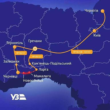 Потяги ділянкою Новоселиця-Мамалига не курсуватимуть