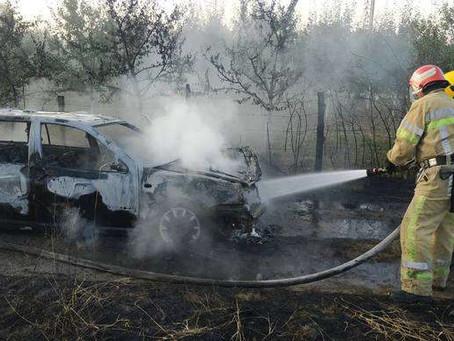 У Малинівці через замкнення проводки згорів «Passat»