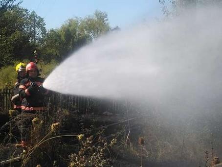 Спалювання сухої трави може призвести до біди!