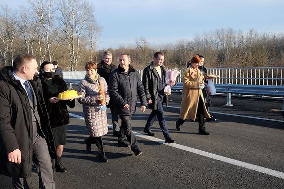 Відкриття мосту у Маршинцях: фоторепортаж