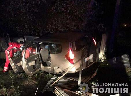 У Новоселиці авто врізалось в паркан, водій і пасажирка травмовані