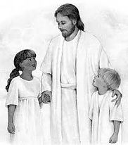 Jesus with children b&w.jpg