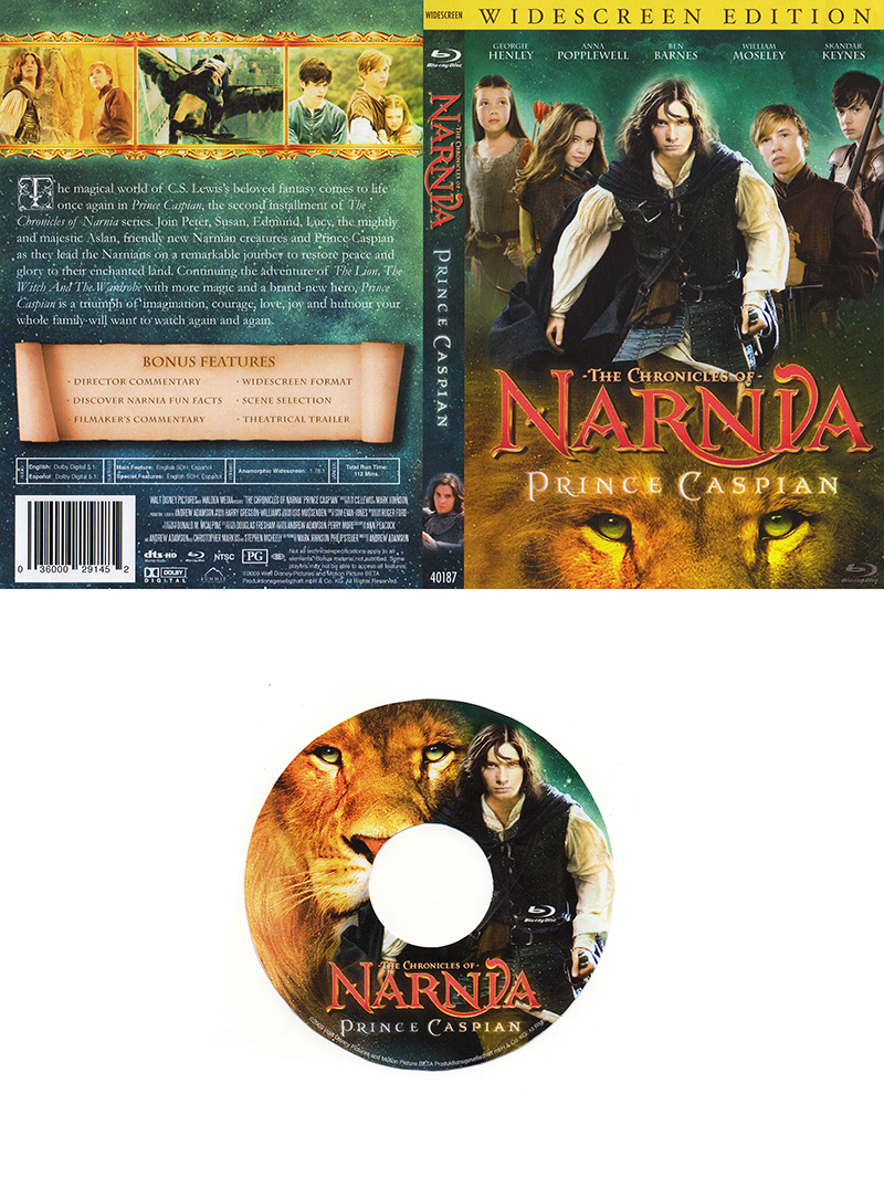 Narnia DVD Sleeve and CD