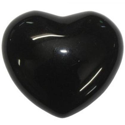 Obsidian Black  Puffy Heart