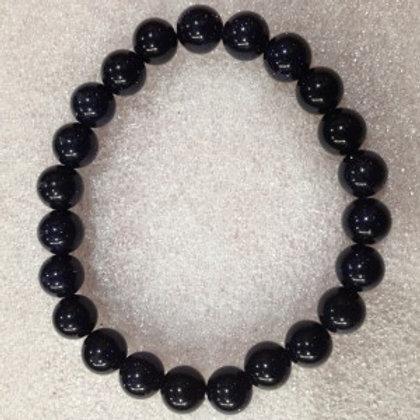 Blue Goldstone - 8mm Bracelet