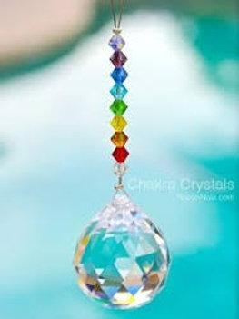 Crystal Ball /Chakra Colors Crystal Beads