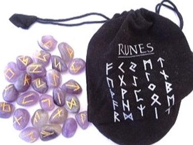 Amethyst  Quartz - Runes