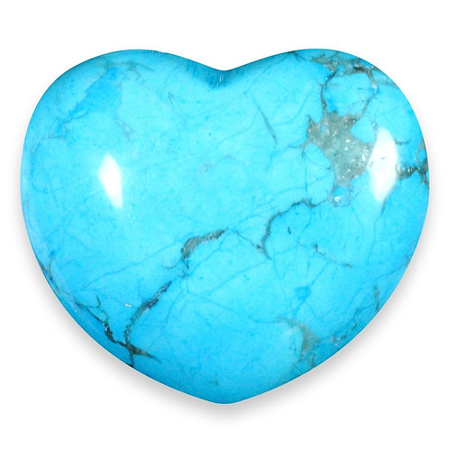 Turquoise/Howlite   Puffy Heart