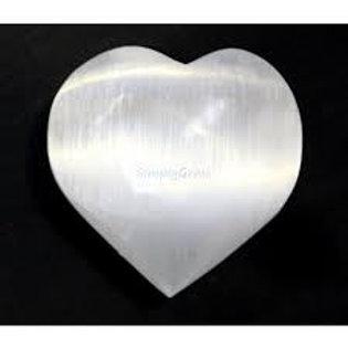 Selenite  Puffy Heart