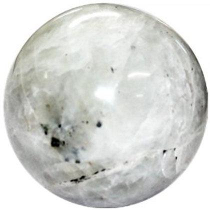 Rainbow Moonstone  Quartz  Sphere
