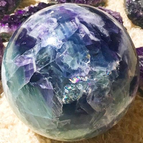 Fluorite Quartz  Sphere