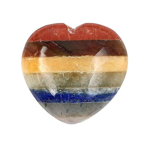 Chakra Stone Puffy Heart
