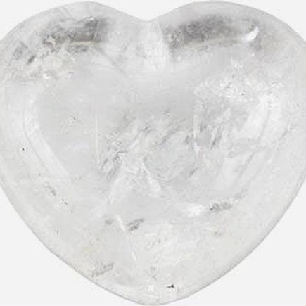 Clear Quartz Puffy Heart