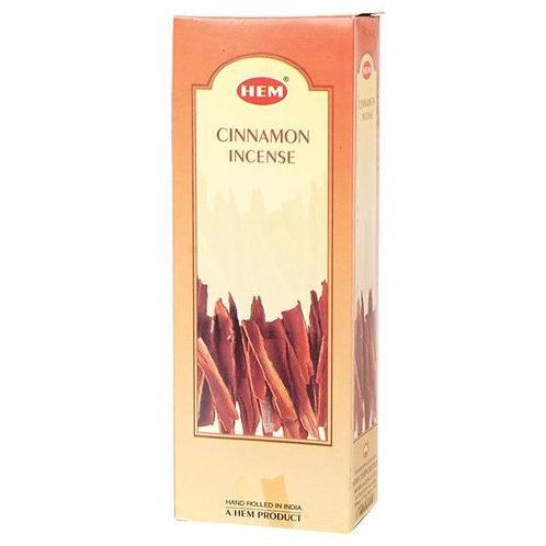 Cinnamon Incense Hexagon - Box of 60 Sticks
