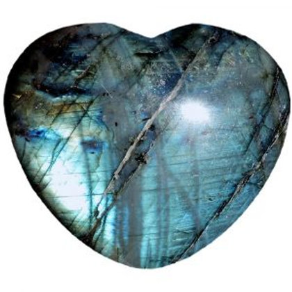Labradorite  Puffy Heart
