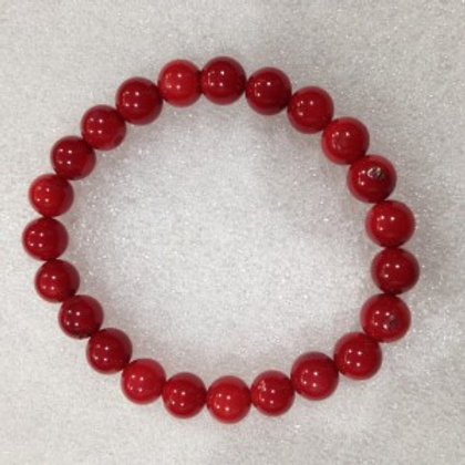 Coral (Red Bamboo) - 8mm Bracelet