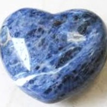 Sodalite Puffy Heart