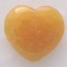 Yellow Calcite Puffy Heart