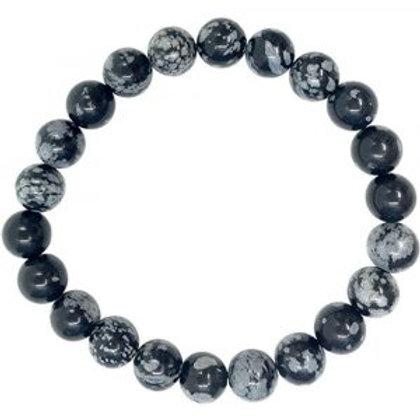 Snowflake Obsidian - 8mm Bracelet