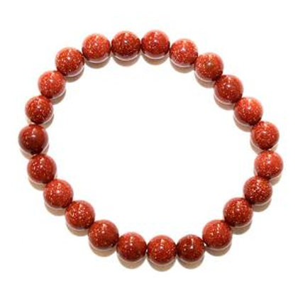 Red Goldstone  - 8mm Bracelet