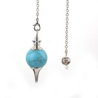 Turquoise/Howlite  - Pendulum Sphere