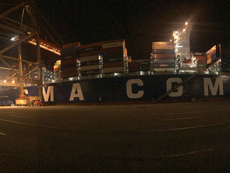 005 Letter from the CMA CGM A. Lincoln Freighter - Crossing the Pacific Ocean