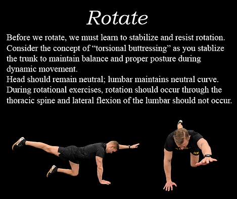 Precise Pattern 6, Rotate, train for ACFT