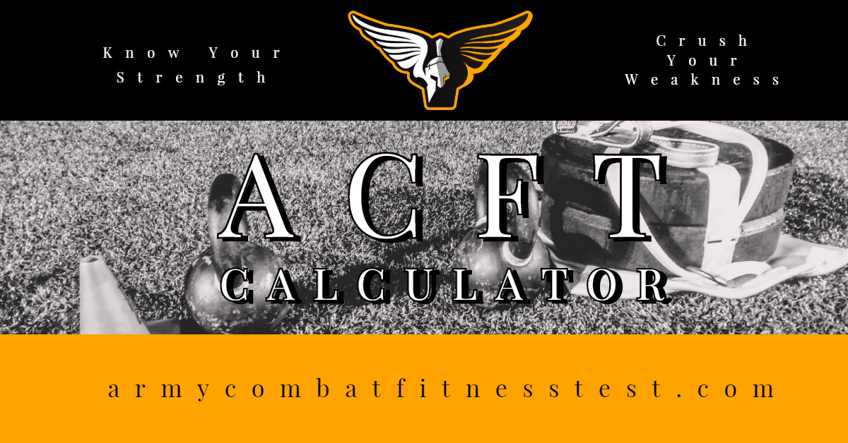 Training For 600 | ACFT Calculator
