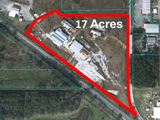 Just Listed!  17+/- Heavy Industrial Acres with Rail Service