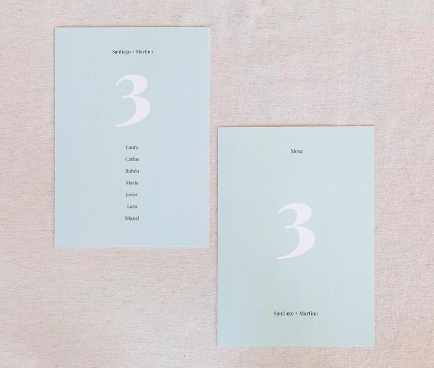 invitación de boda, invitaciones de boda en Santiago de Compostela, invitaciones creativas, invitación minimalista, invitación con colores pastel, mesero, seating plan