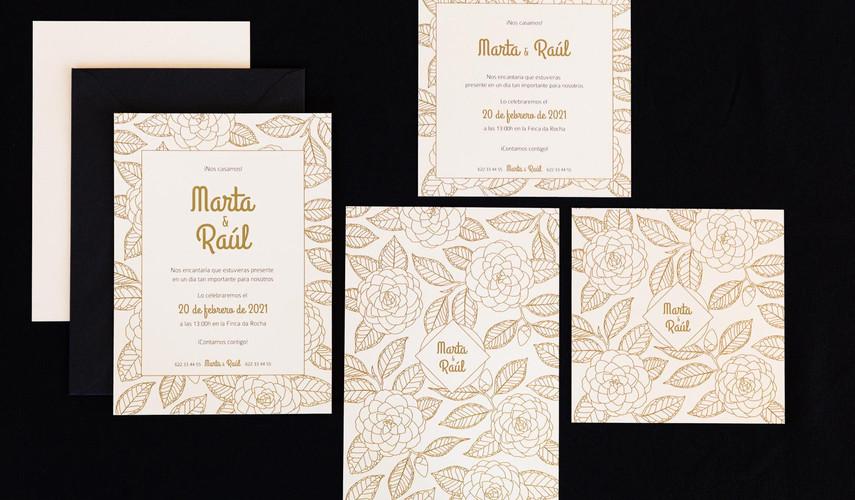 .jpginvitación de boda, invitacións de voda, invitación floral, invitación camelia, invitación elegante, estudio de diseño gráfico en Santiago, invitaciones en Santiago