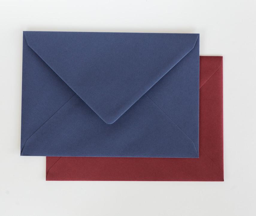 sobres, sobres de colores