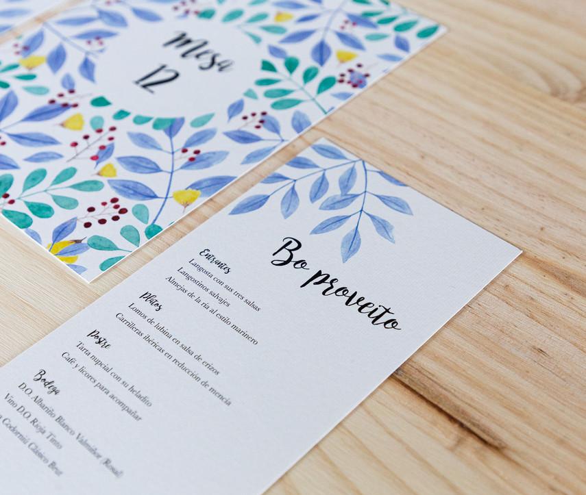 minuta, invitaciones de boda