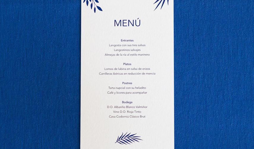 minuta, invitaciones de boda, invitaciones de boda en Santiago de Compostela, invitaciones diferentes, invitación de boda floral