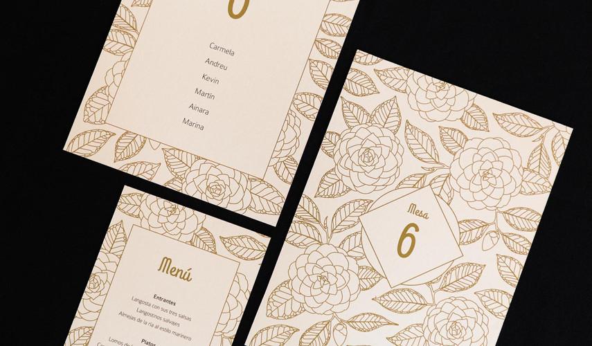 .jpginvitación de boda, invitacións de voda, invitación floral, invitación camelia, invitación elegante, estudio de diseño gráfico en Santiago