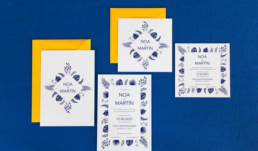 invitaciones de boda, invitaciones de boda en Santiago de Compostela, invitaciones diferentes, invitación de boda floral, estudio de diseño gráfico en Santiago, invitación de boda en A Coruña