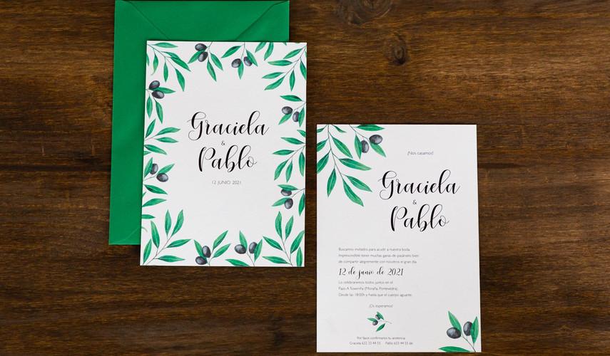 invitación de boda, invitación creativa, invitación ilustrada