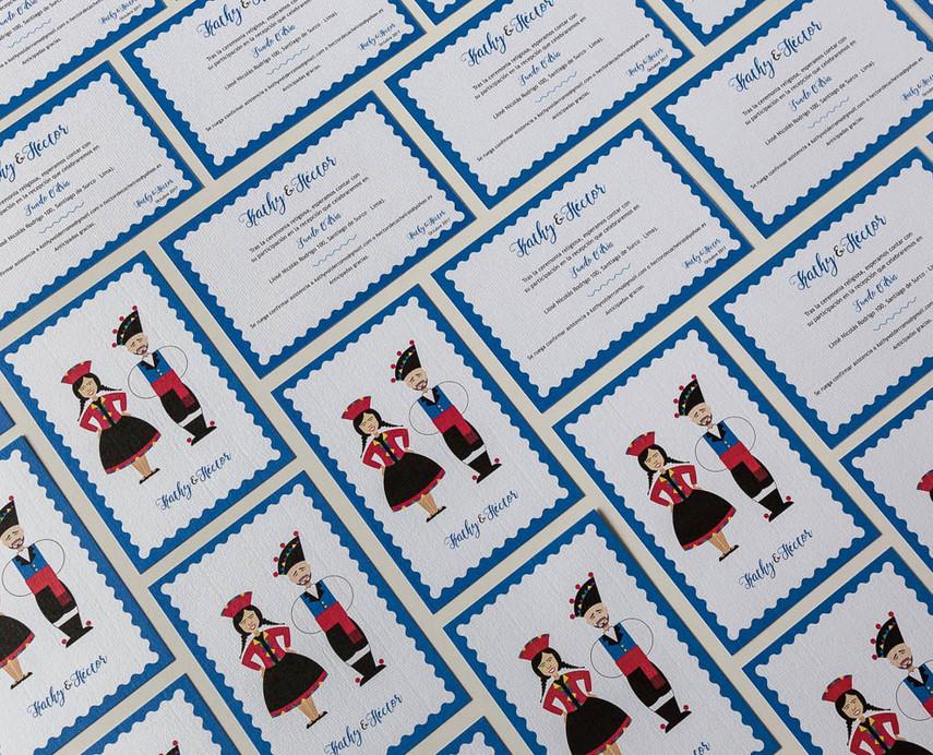 invitaciones de boda personalizadas, invitacións de voda diferentes, estudio de invitaciones de boda, invitaciones de boda en Santiago, invitación con temática tradicional, gaiteiro