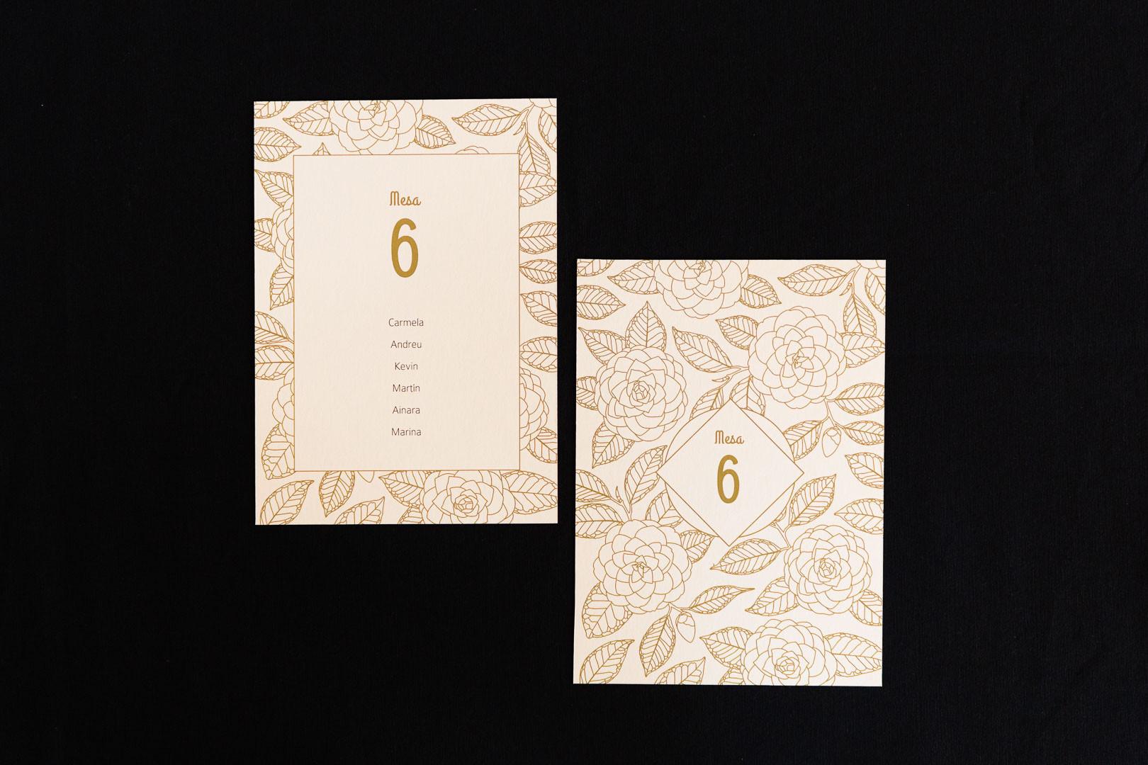 mesero, seating plan, .jpginvitación de boda, invitacións de voda, invitación floral, invitación camelia, invitación elegante, estudio de diseño gráfico en Santiago