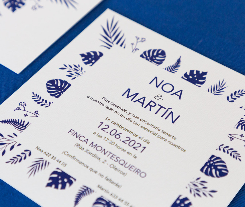 invitaciones de boda, invitaciones de boda en Santiago de Compostela, invitaciones diferentes, invitación de boda floral