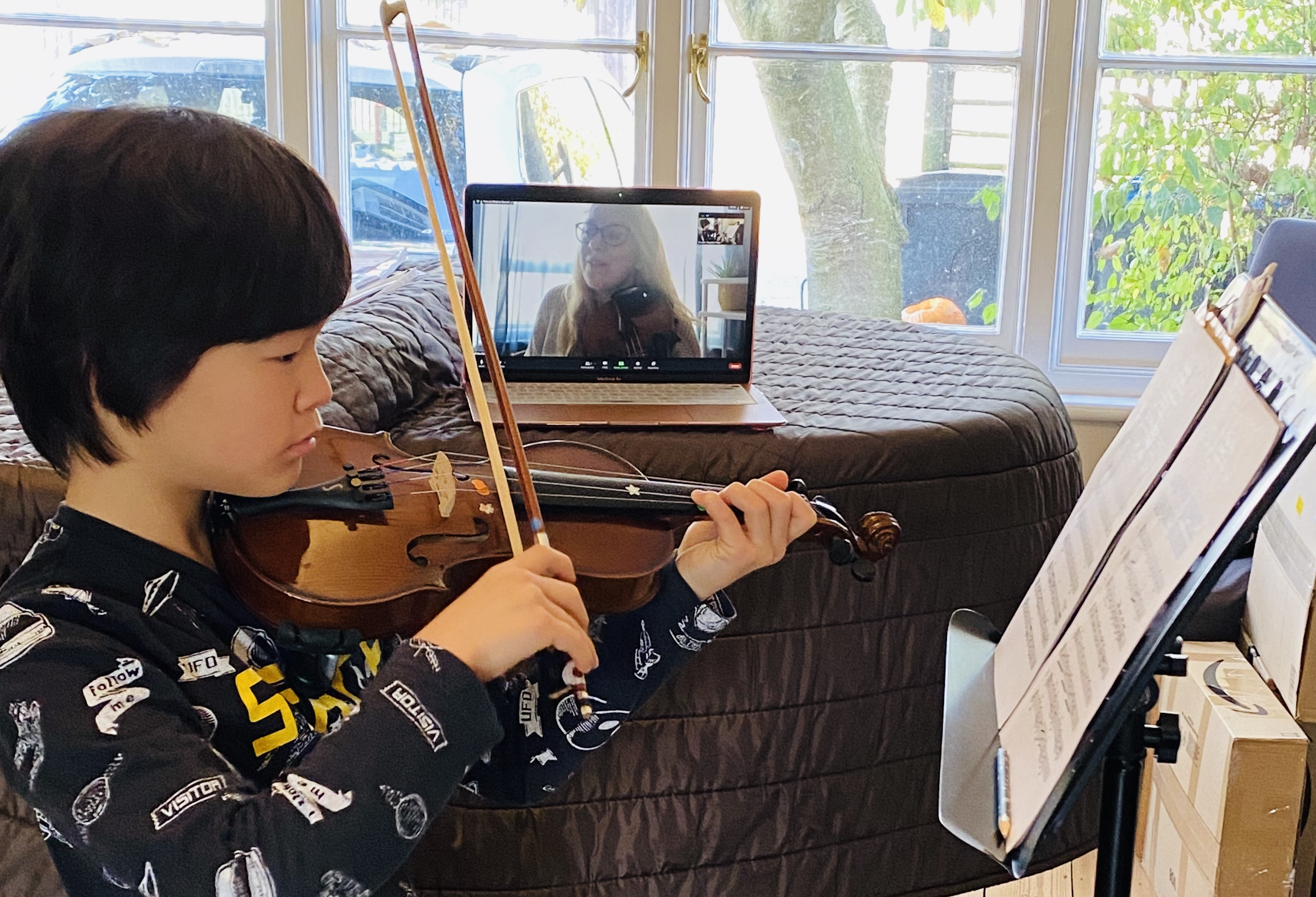 Violin Lesson Zoom 2