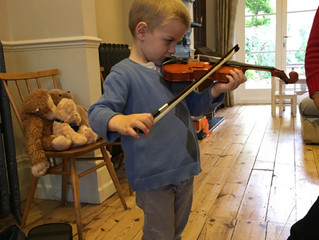New group violin lessons off to a flying start!
