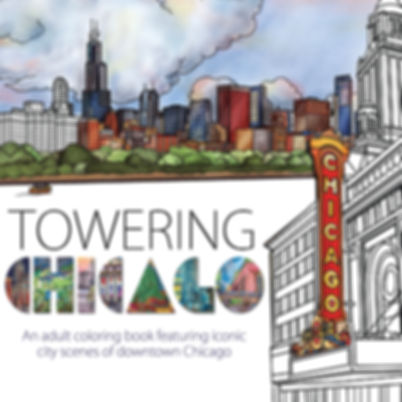 Towering Chicago coloring book cover