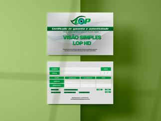 Certificado de Garantia - LOP