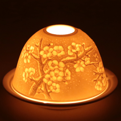 Eclairage d'ambiance en porcelaine 'bourgeon'